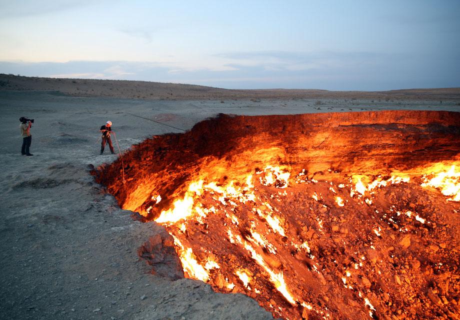 Voyage 9 endroits visiter avant qu 39 ils ne disparaissent - Turkmenistan porte de l enfer ...