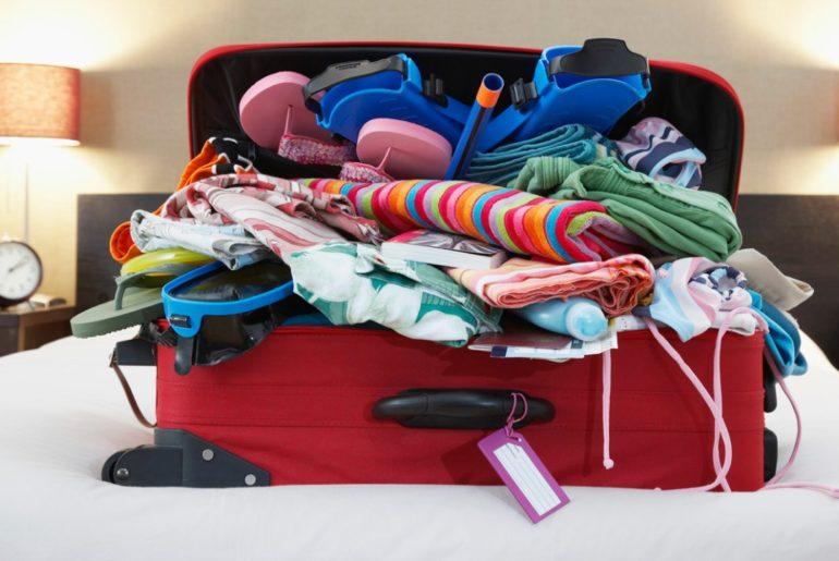 préparation bagages vacances